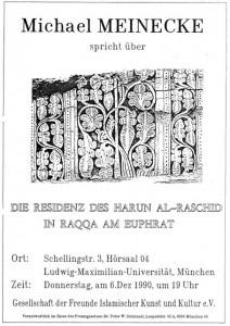 Auch Prof. Meinecke, einer der legendären Direktoren des Berliner Museums für Islamische Kunst, war unser Gast