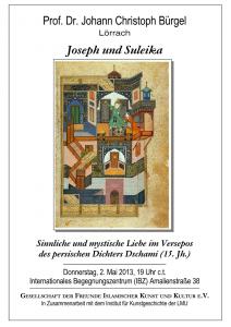 Joseph und Suleika. Sinnliche und mystische Liebe im Versepos des persischen Dichters Dschami