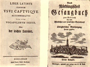 Carl Gottlob Beck, Nördlingen: links 1783, rechts 1785