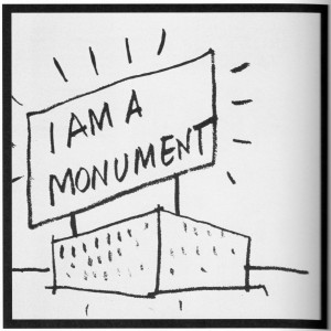 Venturis Vorschlag, wie ein Monument gestaltet werden solle.