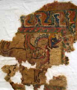 Teppichfragment sasanidisch