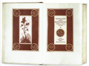 Frontispiz und Titel Jubiläumsausgabe Buddenbrooks 1919