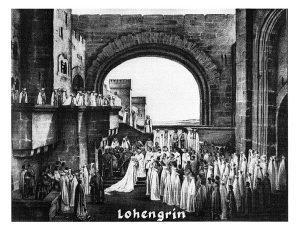 Szenenphoto Bayreuther Festspiele 1936, Richard Wagner, Lohengrin, zweiter Akt: In der Burg von Antwerpen, Brautzug