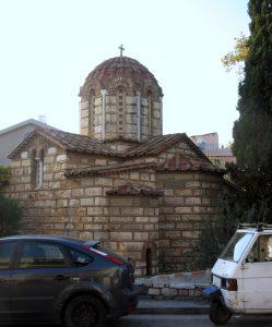 "Kapnikarea-Kirche, byzantinische Kirche an der ""Odos Ermou"""