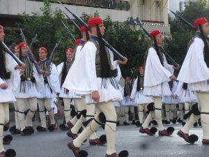 Aufmarsch der griechischen Garde zum Syntagma-Platz